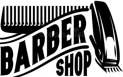 barber shop window sign sticker vinyl graphic decal barbers pole wall art salon