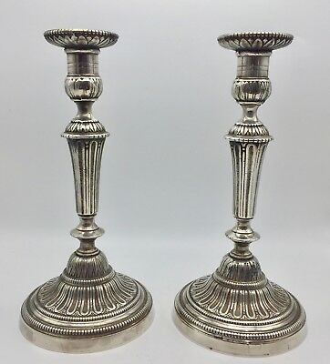 Large Pair Sheffield Silver Plated Candlesticks circa 1920