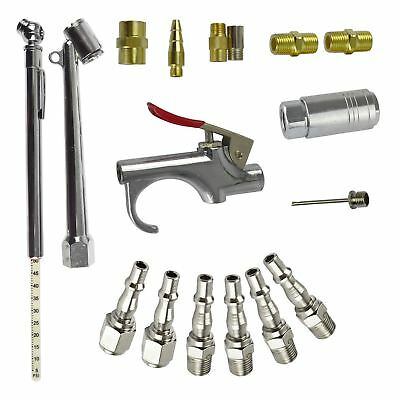 "17pc Air Tool Compressor Accessory Kit Air Line Fittings 1/4"" BSP Tyre Blow Gun"