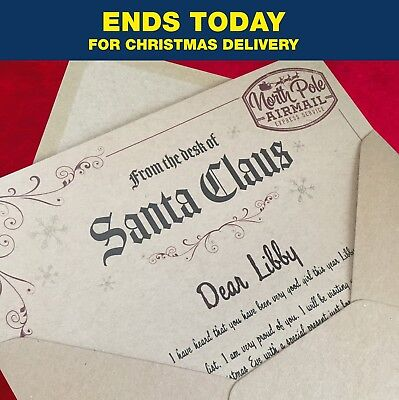 Santa Letter with North Pole stamp - Naughty or Nice! 5 PERSONALISED AREAS