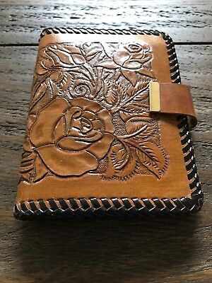 Vintage Hand Tooled Ladies Leather Wallet