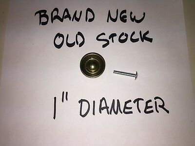 """Brand New Old Stock Ethan Allen Heirloom Collection 1"""" Round Brass Pull!"""