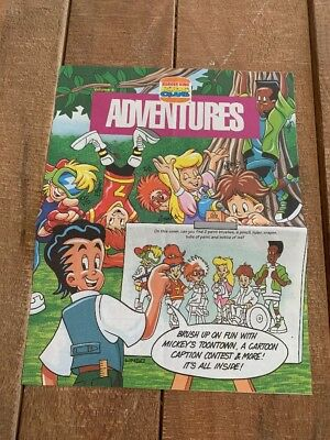 Burger King 1993 Kids Club Adventures Volume 4  Issue 1 leaflet