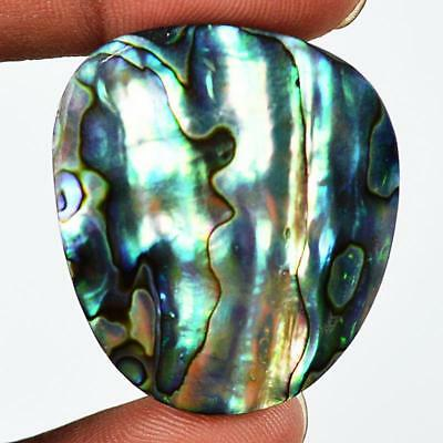 61ct 36X31mm Natural Abalone Mother of Pearl Fancy Gemstone Doublet Cab RU80