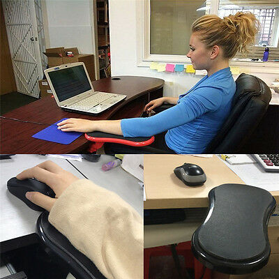 Desk Attachable Computer Table Arm Support Pads PC Arm Wrist Rests Protect Pads