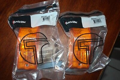 2 Pair NEW Truck-Lite 22 Series Yellow Rectangle Incandescent Side Turn Signal