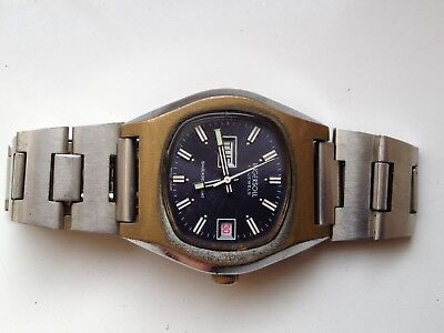 Mens Vintage Sekonda Day Date Manual Wind Swiss 17 Jewels Watch For Spares Rep