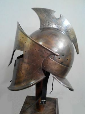 Spartan King Helmet 300 Leonidas Medieval Movie Roman Greek Armor Costume Helmet
