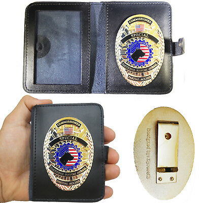 Emotional Support Animal Badge & Leather Wallet