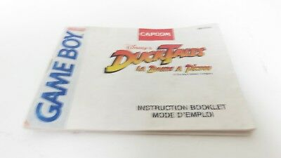 Ducktales La Bande a Piscou - Game Boy manual only