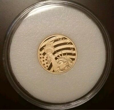 2018 Cook Islands $5.00 1/10 oz .24 Fineness Gold Statue Of Liberty Sealed Coin