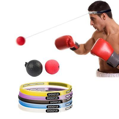 Sport Boxing Reflex Ball Exercise Speed Training Punch Stress Relief w/ Headband