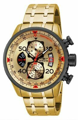 Invicta 17205 Mens Aviator Chronograph Gold Tone Stainless Steel Watch