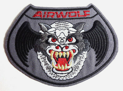 """Airwolf TV Series wolf Logo 4.75"""" DELUXE Patch- Mailed from USA (AWPA-Wolf)"""