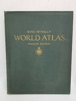 RARE Rand Mcnally World Atlas Premier Edition 1941 Book GREAT Condition