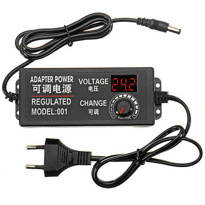 9 - 24V AC / DC Adjustable Volt Power Adapter Switch Power Supply With Display