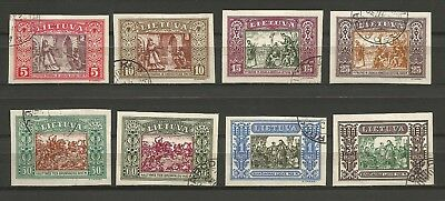 Lithuania Litauen 1932 U Mi 332-339 Sc 264-271 IInd Child  issue imperforated