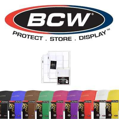 5 Pack BCW Gaming Side Loading 18 Pocket Pro Binder 3 Ring Pages 10 Colors