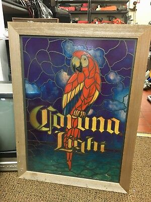 Corona Light Parrot Stained Glass Wall Window Hanging