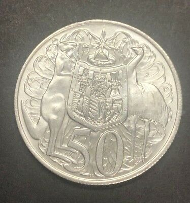 Australian Fifty 50c cent coin - 1966 - ROUND - 80% Silver - circulated