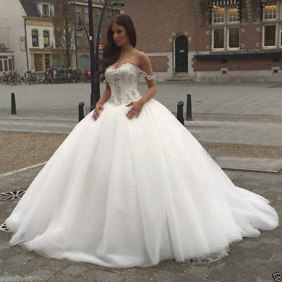 PRINCESS PLUS SIZE Wedding Dress Ball Gown 2018 Luxury crystal tulle ...