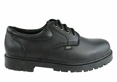 New Roc Magnum Senior Lace Up Black Leather Comfortable School Shoes