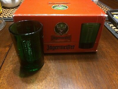 Jagermeister Dark Green Solid Shot Glass (New)