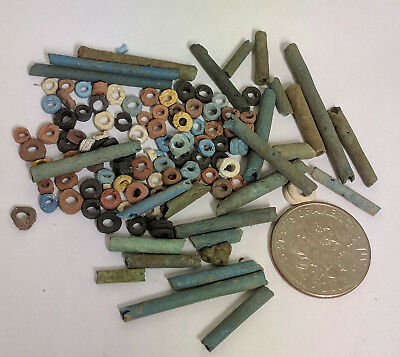 More than a Hundred 2500 Year old Ancient Egyptian Faience Mummy Beads (K1512)