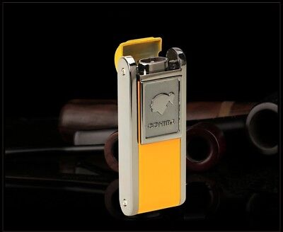 COHIBA Torch Jet Flame metal punch lighter Cigar Cigarette Yellow Color