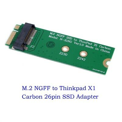 M.2 NGFF SSD to 20+6pin 26pin SSD Adapter Card for Lenovo ThinkPad X1 Carbon