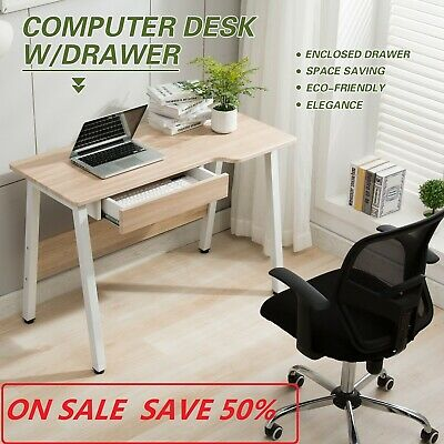 Rotating Computer Desk Corner L-Shape PC Laptop Writing Workstation Study Table