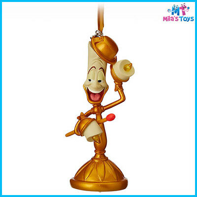 Disney Beauty and the Beast's Lumiere Light-Up Sketchbook Ornament brand new