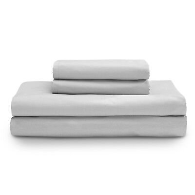 Light Grey Single/Double Size Fitted Sheet With Pillowcases Bed Sheet Au Seller