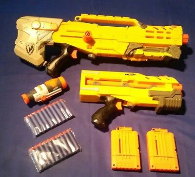Nerf N-Strike CS-35 Longshot Sniper Rifle, Blaster, Gun, Extension & Magazines