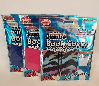 *NEW* Premium Edition Jumbo Super Stretchy Book Cover - Lot of 3 (colors vary)