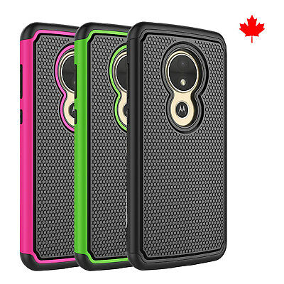 Fits Motorola Moto E5 Play Case Shockproof Rugged Impact Hybrid Armor Cover