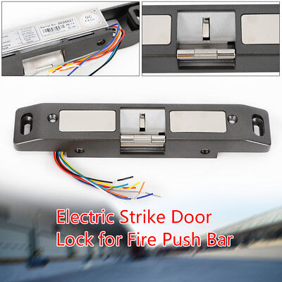 Electric Strike Lock for Push Bar Rod Door for Home Office Fire Exit NO NC Mode