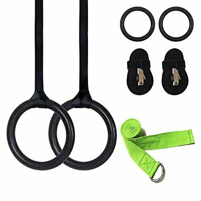 Ergode Gymnastic Rings with Adjustable Straps and Yoga Stretch Out Straps, Me...