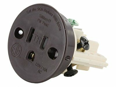 Sillites SCRBR Tamper-Resistant Self-Contained Receptacle 15 Amp 120 Volt Brown