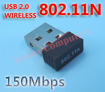 Computer Wireless Network Card WiFi Internet USB Adapter 802.11n/g/b 150Mbps AU