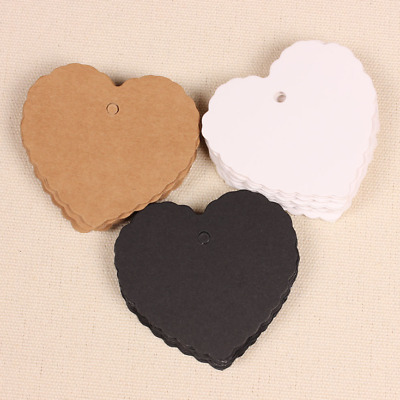 Pack of 50 Gift Tags Lace Heart Shaped Label Card Wedding Party Decoration
