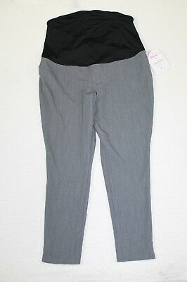 Isabel Maternity Straight Pants Crossover Women's Size 8 Stretch Ankle Length