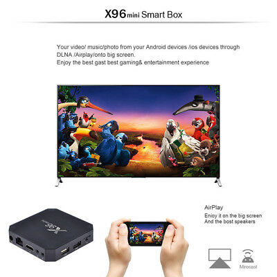 2018 X96MINI Android 7.1.2 2+16G Quad Core 4K Media HDMI WIFI Smart TV BOX
