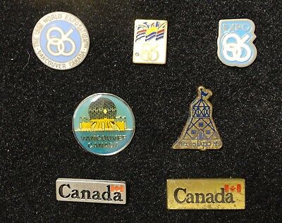 Collection of Vancouver '86 1986 Expo Canada World's Fair Exposition Lapel Pins