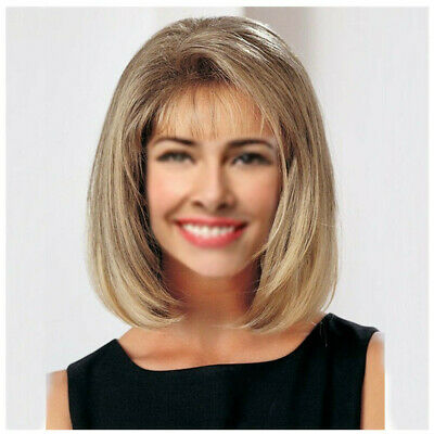 Wig European and American fashion realistic oblique bangs short curly hair wig