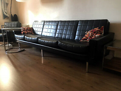 Vintage Retro 1960s extra large 4 Seater German sofa Florence Knoll style