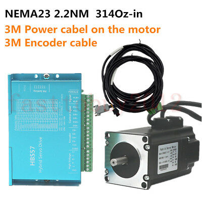 2.2NM DSP Closed Loop Stepper Motor Nema23 Driver 1.8° for CNC Engraving Machine
