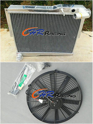 FOR 56MM ALUMINUM ALLOY RADIATOR +fan MG MGB GT/ROADSTER 1977-80 77 78