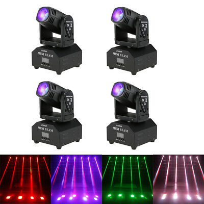 4X Lixada 50W RGBW Moving Head LED Bühne Licht DMX Beam 11/13CH Disco Lampe V5U2