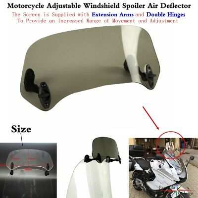 1Pc Motorcycle Adjustable Clip On Windscreen Windshield Air Deflector Fits Honda